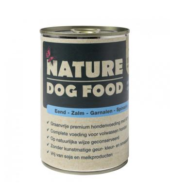 Nature Dog Food Premium Natvoer Eend, Zalm, Garnalen en Spinazie