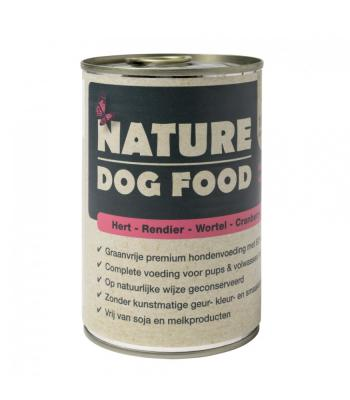 Nature Dog Food Premium Natvoer Hert, Rendier, Wortel en Cranberry