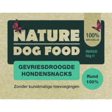 Nature Dog Food Gevriesdroogde Hondensnacks 100% Rund